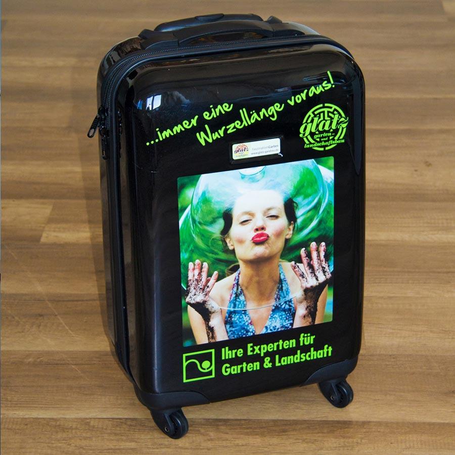 Beispiel Sonderverklebung Koffer