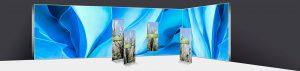 Verschiedenste Roll up Display Präsentationslösungen von RETE