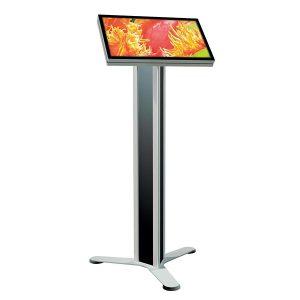 Monitoständer Octanorm als Beispiel für Digitale Multimedia Displays von RETE