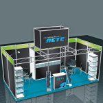 Messestand Das mobile System Ocatquick als Präsentationslösung von Medienhaus RETE