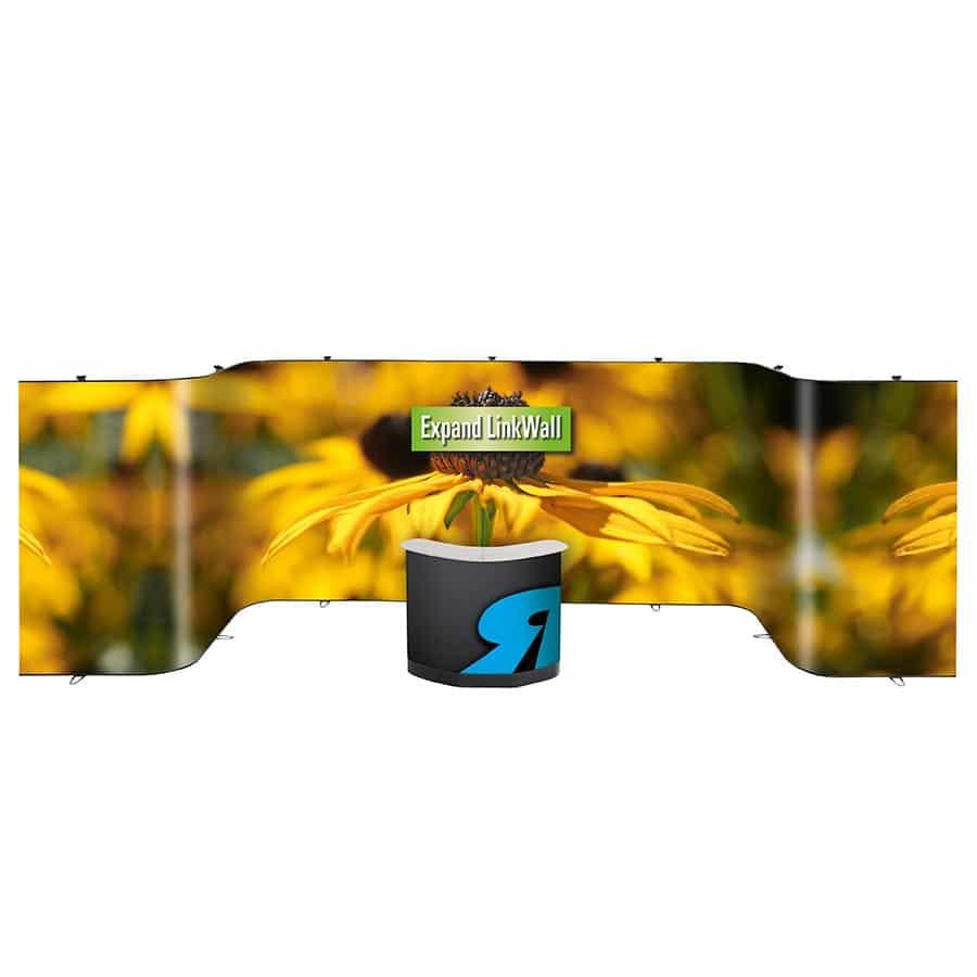 Die Expand LinkWall ist ein mobiles Wanddisplay von Warenhaus RETE