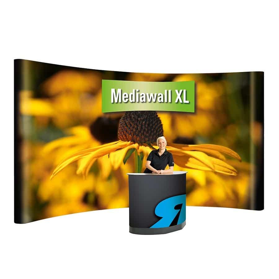 Die mobile Präsentationslösung Mediawall XL von RETE Warenhaus