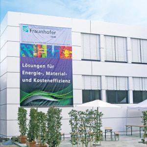 Werbetechnik Fassadenwerbung von RETE in XXL Druck Beispiel Fraunhofer