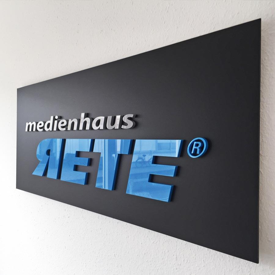 Beispiel RETE Logo in 3D-Buchstaben