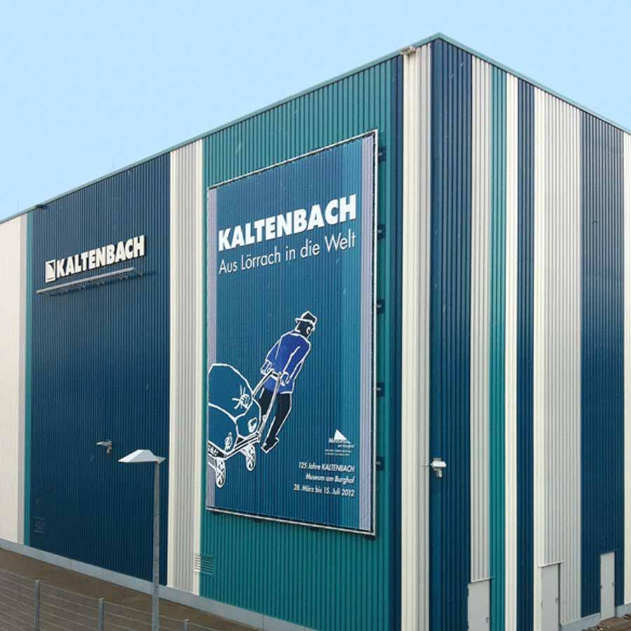 Fassadenwerbung bei Kaltenbach Lörrach von RETE Banner und Poster im XXL Druck