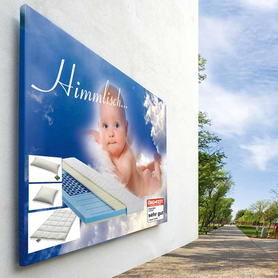 Beispiel XXL Banner/Poster Fassadenwerbung Himmlisch von RETE