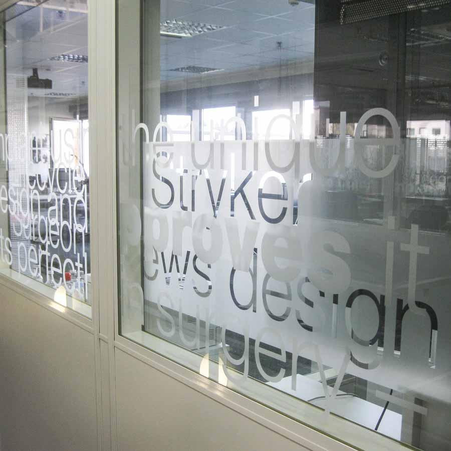 Glasdekorfolie - Fensterverklebung von RETE