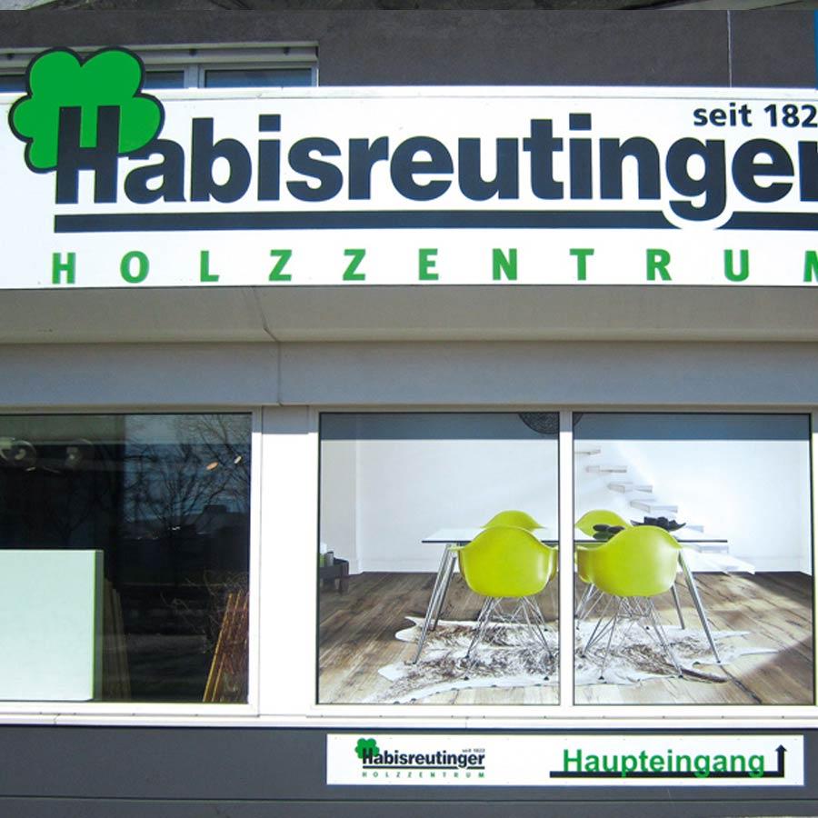 Beispiel für Fensterverklebung mit Schaufensterfolie
