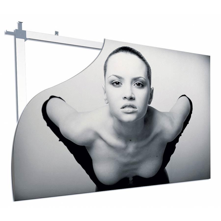 Beispiel in schwarz-weiß Werbeschilder von RETE