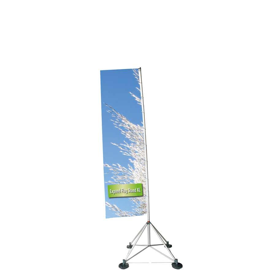 Die Outdoor Expand Flag Stand XL als mobile Präsentationslösung von Medienhaus RETE