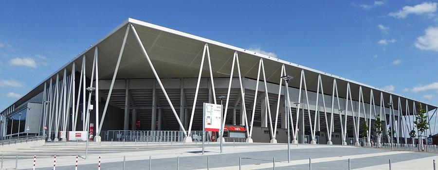 Europa-Park-Stadion Werbetechnik