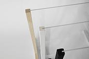Plexiglasaufsteller aus Holz in Freiburg
