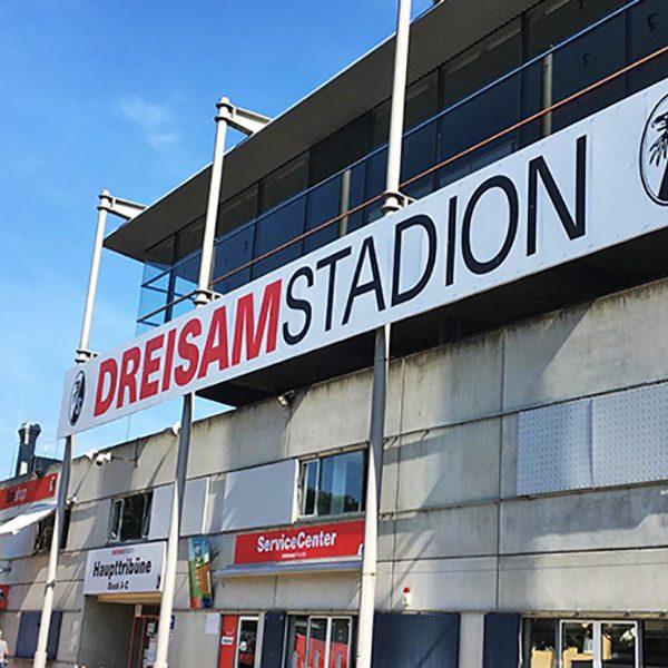 Stadionwerbung Dreisamstadion