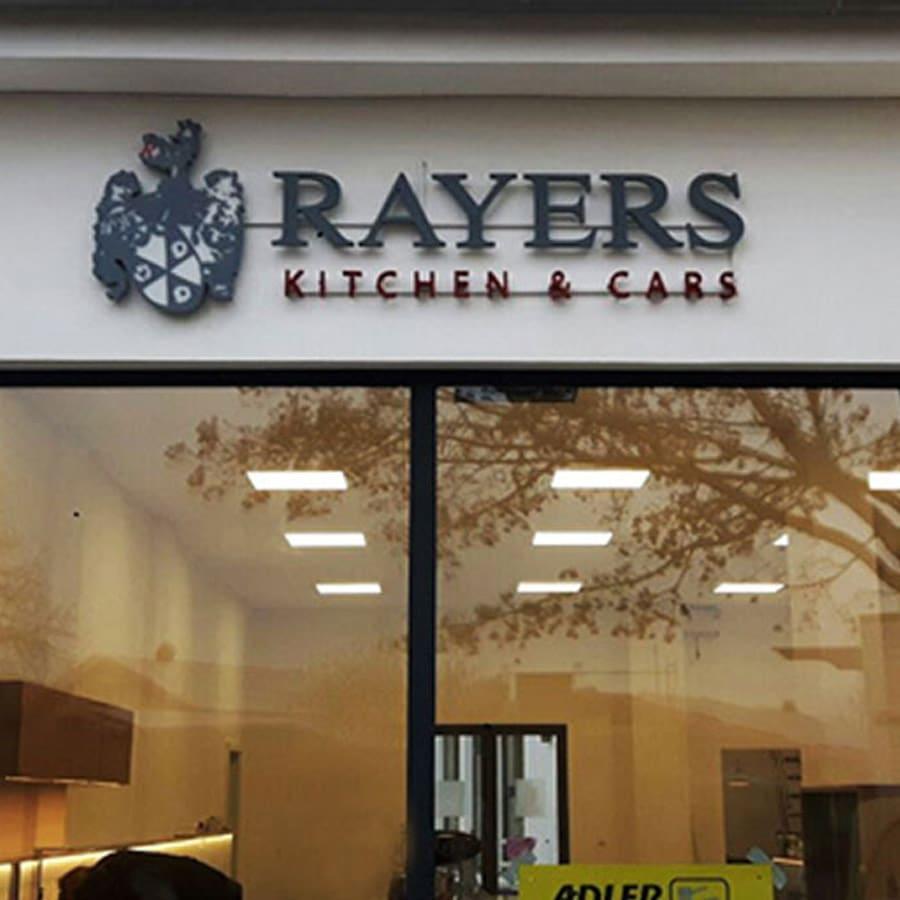 Rayers Kitchen and Cars 3D-Buchstaben und Objekte von RETE