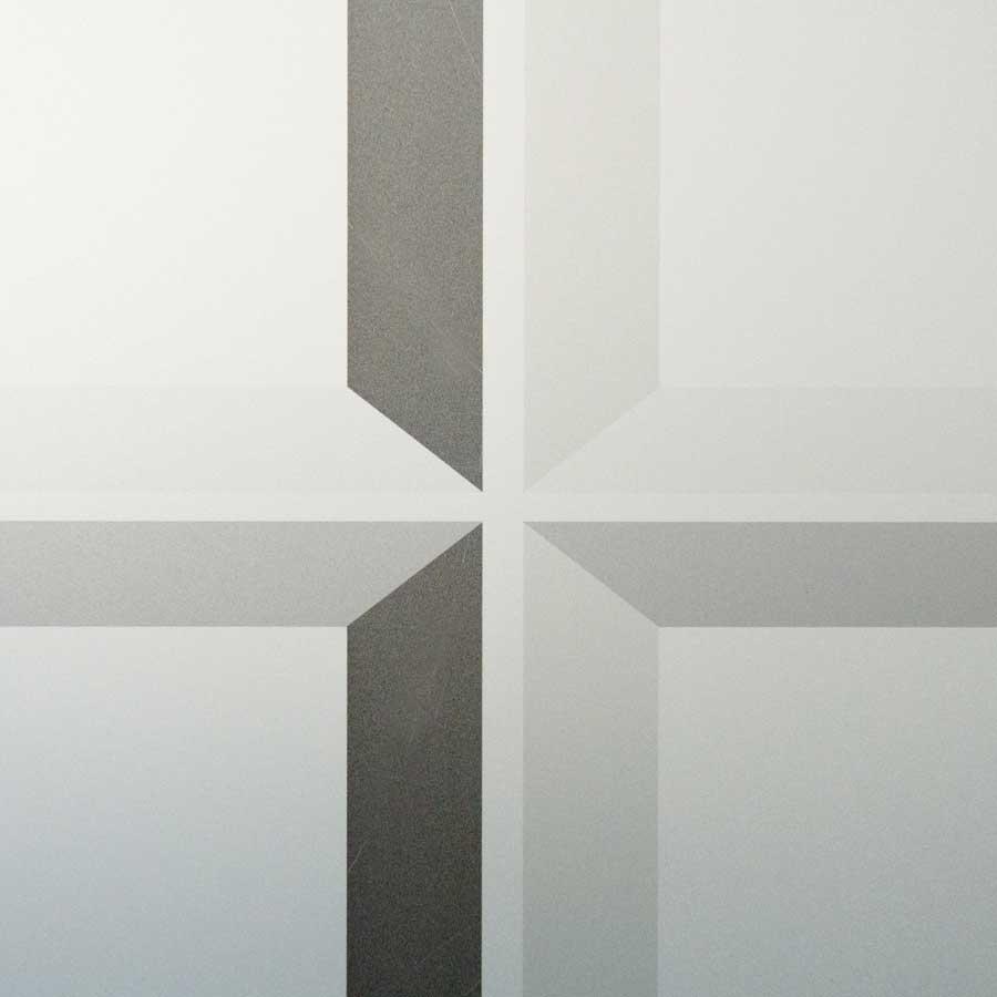 Zoom auf Beispiel von Glasdekorfolie von RETE