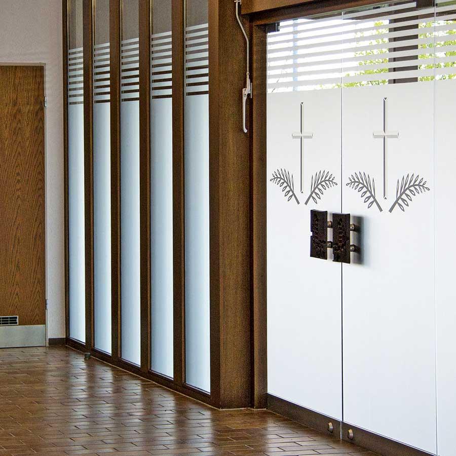 Beispiel für Glasdekorfolie von RETE in Freiburg und Emmendingen