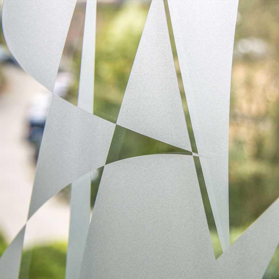 Zoom auf Glasdekorfolie Beispiel von RETE