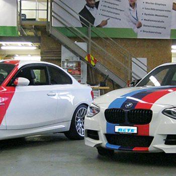 BMWs durch RETE Kfz-Verklebung verschönert