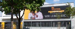 Die Monsterframe Werbetafel am Beispiel Ritter Dorfbäckerei von Medienhaus RETE