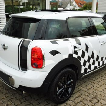 Fahrzeugfolierungen Mini Countryman Ralleye-Streifen