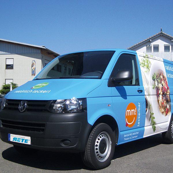 Werbefolierung Firmenwagen Folierung T5 Transporter