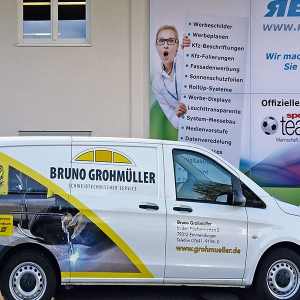 Werbefolierung Lieferwagen Firmenwagen Folierung