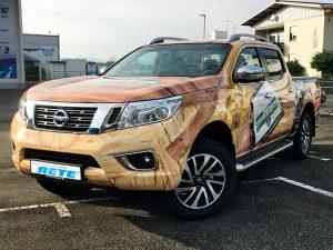 Werbefolierung Nissan Firmenwagen Folierung