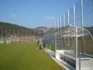 Werbebanden Sportplatz