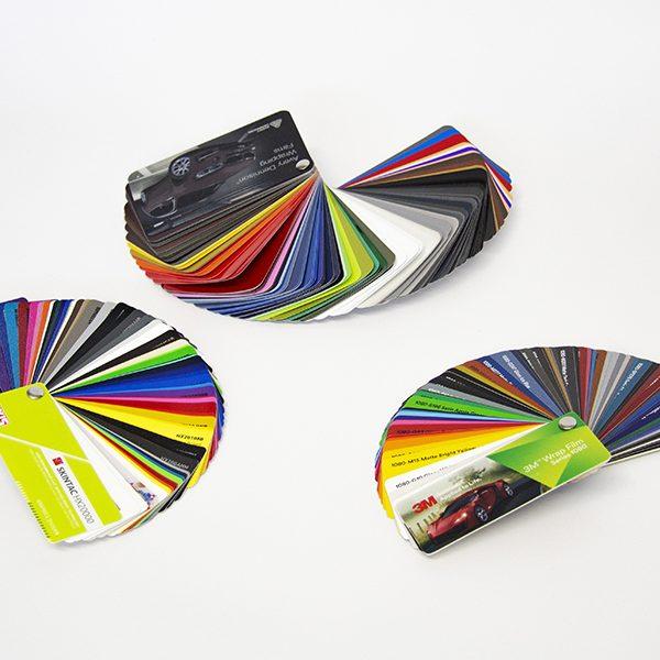 Farbfächer Auswahl für Auto bekleben oder Folierung
