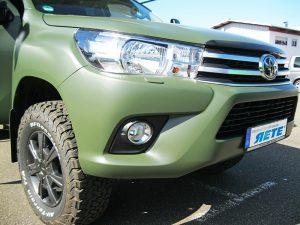 Tarnfolierung Fahrzeug Toyota