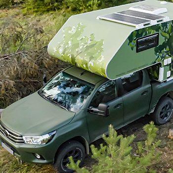Tarnfolierung Werbetechnik Toyota Pick up