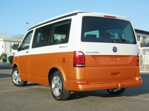VW_T6_Heck_orange Emmendingen Auto folieren