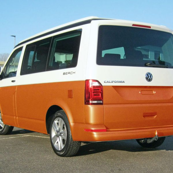 VW_T6_Heck_orange Emmendingen Auto folieren
