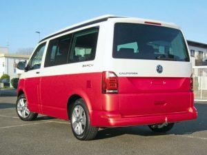 VW_T6_Heck_rot Teilfolierung Bus bekleben lassen