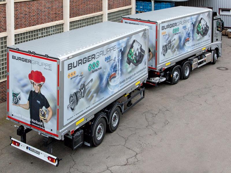 Mobile Werbeflächen LKW Beschriftung Anhänger - RETE