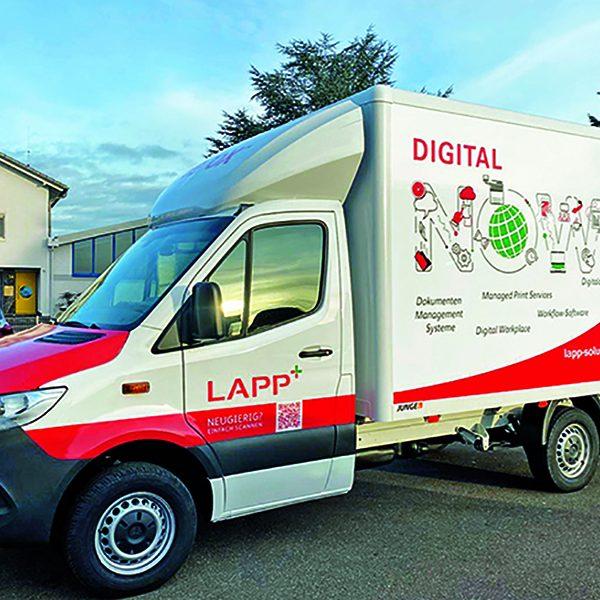 Transporter Mobile Werbeflächen Beschriftung