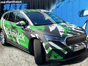 Autofolierung Fahrzeugfolierung Skoda Bekleben in Freiburg