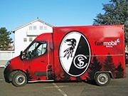 Werbetechnik Auto Folie Transporter