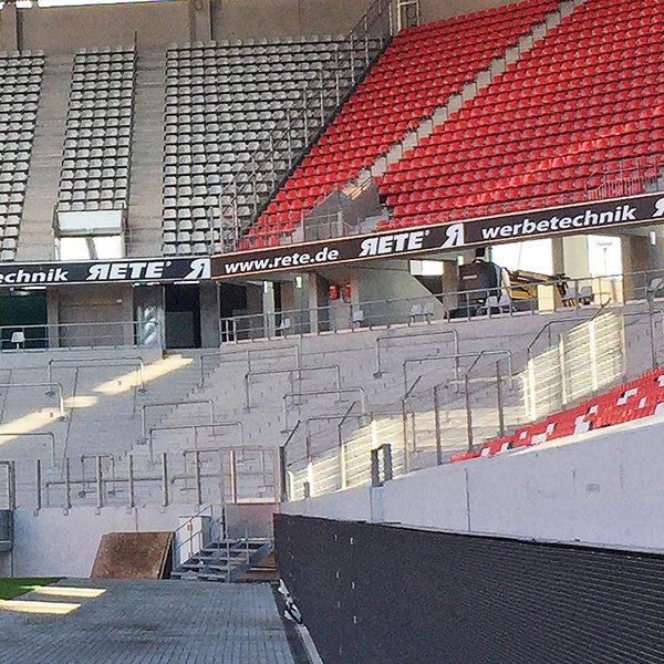Stadionwerbung Medienhaus RETE Werbetechnik