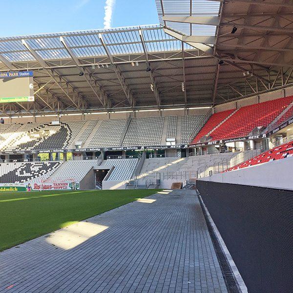 Stadionwerbung Europa Park Stadion